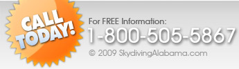 Call Skydiving Alabama Today for FREE Information!